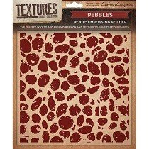 Crafters Companion™ Textures™ 8x8 Embossing Folder - Pebbles