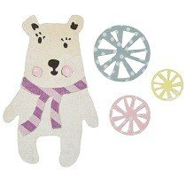 Sizzix Thinlits Die Set 6PK - Friendship Bear by Craft Asylum
