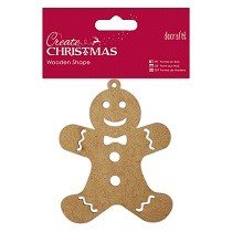 DoCrafts® Create Christmas Collection - Wooden Shape, Gingerbread Man