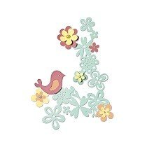 Sizzix Thinlits Die Set 6PK - Floral Love by Emily Atherton