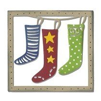 Sizzix Thinlits Die - Christmas Stockings by Debi Potter