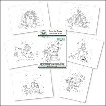 The Hobby House®, Ready to Colour Art Book - Winter Wonderland