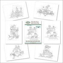 The Hobby House®, Ready to Colour Art Book - Joyful Christmas