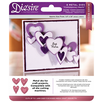Die'sire™ Mixed Media Die Set - Contemporary Hearts (8 pcs)