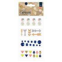Papermania® Capsule Collection, Geometric Kraft - Embellishments (39pk)
