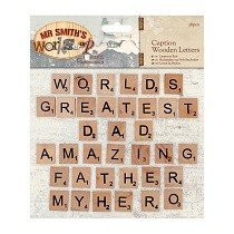 Papermania® Mr Smith's Workshop Collection - Caption Wooden Letters (36pcs)