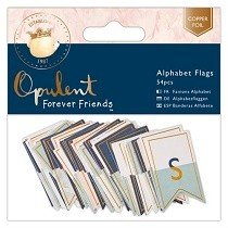 DoCrafts® Opulent Forever Friends™ Collection - Alphabet Flags (54 pcs)
