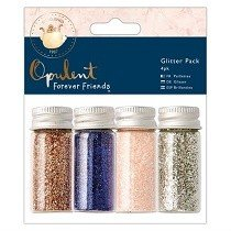 DoCrafts® Opulent Forever Friends™ Collection - Glitter Pot Pack (4 pcs)