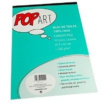 Pēbēo A3 Cotton Canvas Pad - 10 Sheets (Perfect for Mixed Media)