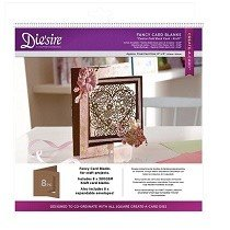 Crafter's Companion™ Die'sire™ Die Cut Fancy Card Blanks - Centre Fold Back (KRAFT)