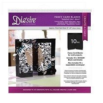 Crafter's Companion™ Die'sire™ Die Cut Fancy Card Blanks - Gatefold (BLACK)