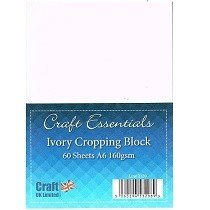 Craft UK© Ltd - A6 Ivory Cropping Card Block, 160gsm, 60 pk
