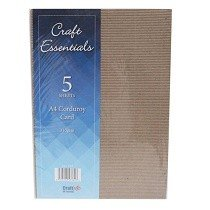 Craft UK© Ltd - Craft Essentials A4 Corduroy Card 310gsm (5 pack)