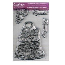 Crafter's Companion™ Clear Stamp Set - Strawberry Cupcakes