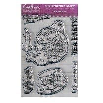 Crafter's Companion™ Clear Stamp Set - Tea Party