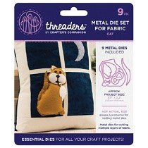 Threaders™ Metal Dies Set for Fabric - Cat (9 pcs)