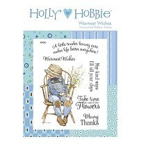 Crafter's Companion™ Holly Hobbie™ A6 Unmounted Rubber Stamp - Warmest Wishes