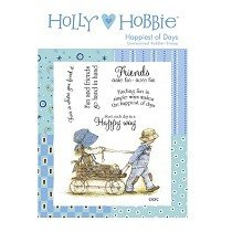 Crafter's Companion™ Holly Hobbie™ A6 Unmounted Rubber Stamp - Happiest of Days