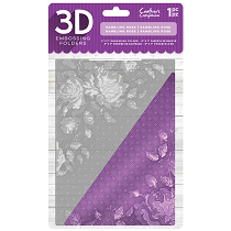 Crafter's Companion™ 3D Embossing Folder 5 x 7 - Rambling Rose
