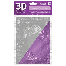 Crafter's Companion 3D Embossing Folder 5 x 7 - Rose Bouquet