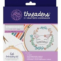 Threaders™ Embroidery Kit - Cat