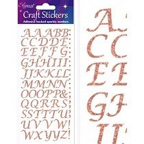 Eleganza® Craft Stickers - Alphabet, Stylized - Rose Gold