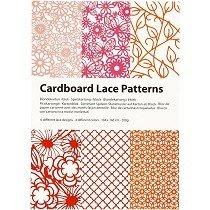 Creativ Company® A6 Cardboard Lace Pattern Pad (24 pcs) - Summertime