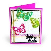 Sizzix™ Thinlits Die Set 6PK w/Textured Impressions - Just A Note Butterflies by Courtney Chilson®