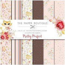 Creative Worlds of Crafts™ The Paper Boutique 8 x 8 Collection - Pretty Purfect