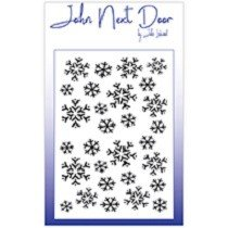 John Next Door by John Lockwood - Mask Stencil, Snowflakes