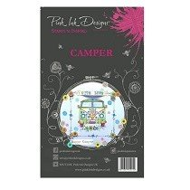 Pink Ink Designs® A6 Clear Stamp Set - Camper