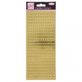 Anita's Outline Stickers - Capital Letters (Gold)