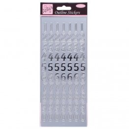 Anita's Outline Stickers - Large Numbers (Silver)