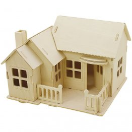 Creativ Company® 3D Wooden Construction Kit - Bungalow