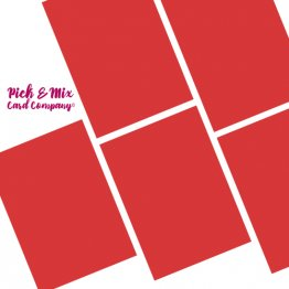 Pick & Mix Card Company© A4 (5pk) - Cola Cube Red