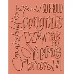 Cuttlebug® Embossing Folder - Congrats Words
