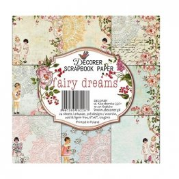 Decorer® 6 x 6 Scrapbook Paper Pack (24 pcs) - Fairy Dreams