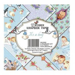 Decorer® 6 x 6 Scrapbook Paper Pack (24 pcs) - It's a Boy