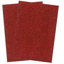 Craftstyle© A4 Glitter Card Non-shedding 2 pk - Ruby Red
