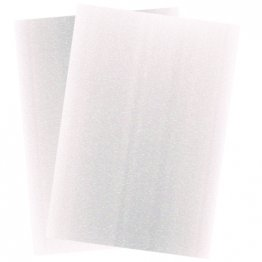 Craftstyle© A4 Glitter Card Non-shedding 2 pk - Frosting White