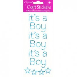 Eleganza® Craft Gem Stickers - It's A Boy