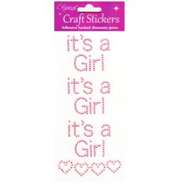 Eleganza® Craft Gem Stickers - It's A Girl