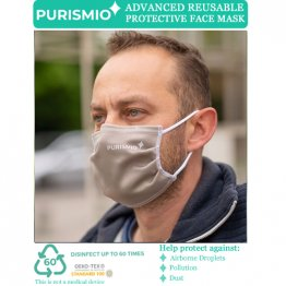 Purismio◊ Advanced Reusable Protective Face Mask - Single, Latte
