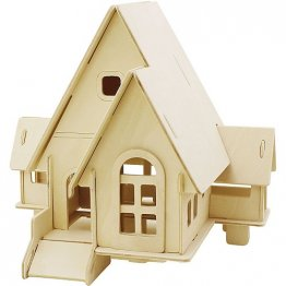 Creativ Company® 3D Wooden Construction Kit - Lodge