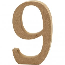 Creativ Company® MDF Wooden Symbol - Number 9