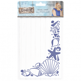 "Crafter's Companion® Signature Collection, Nautical by Sara Davies - 5"" x 7"" Embossing Folder, Seashell Corner"
