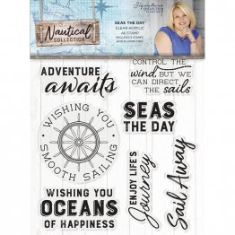 Crafter's Companion® Signature Collection, Nautical by Sara Davies - Acrylic Stamp, Seas the Day