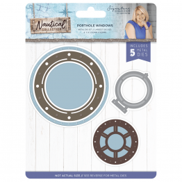 Crafter's Companion® Signature Collection, Nautical by Sara Davies - Metal Die, Porthole Windows