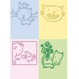 Cuttlebug® Embossing Folder Mini Set - Cat