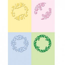 Cuttlebug® Embossing Folder Mini Set - Formal Circles